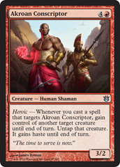 Akroan Conscriptor - Foil on Channel Fireball