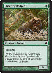 Charging Badger - Foil on Channel Fireball