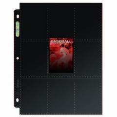 18-Pocket Platinum Topload Page with Black Background