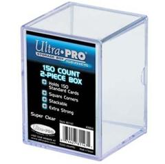 2-Piece 150 Count Clear Card Storage Box