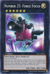 Number 25: Force Focus - SP14-EN026 - Starfoil Rare - 1st Edition