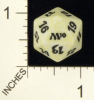 Magic Spindown Die - 2010 Core Set - White