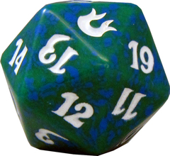 20 Sided Spindown Die - Born of the Gods (Green) on Channel Fireball