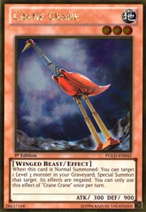 Crane Crane - PGLD-EN042 - Gold Rare - 1st Edition on Channel Fireball