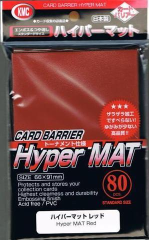 KMC Hyper Matte Red Sleeves (80ct)