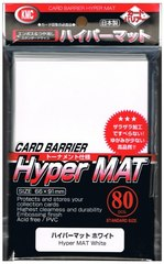 KMC Hyper Mat White Sleeves (80ct)