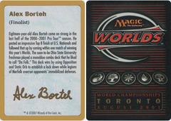 Biography - Alex Borteh - 2001