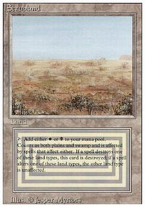 Scrubland MTG Dual Land Revised