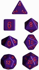 Opaque Purple / Red 7 Dice Set - CHX25417