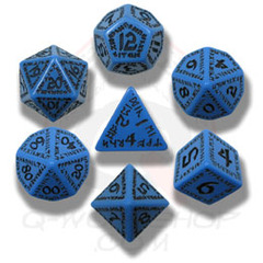 Black & Yellow Runic 7 Dice set