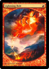 Lightning Bolt (Foil Textless Player Rewards) on Channel Fireball