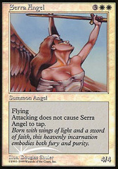Serra Angel (Foil Beta Picture) on Channel Fireball