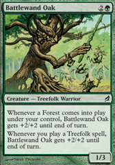 Battlewand Oak on Channel Fireball