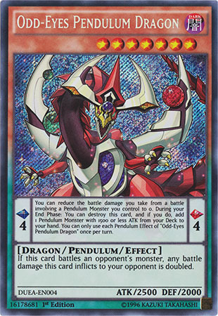 Odd-Eyes Pendulum Dragon - DUEA-EN004 - Secret Rare - 1st Edition