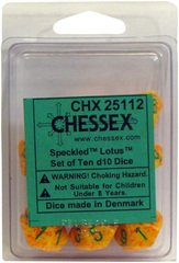 10  Speckled Lotus D10 Dice Set - CHX25112
