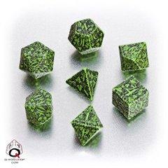 Green-black Forest dice set