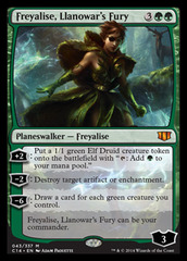 Freyalise, Llanowar's Fury (Oversized) on Channel Fireball