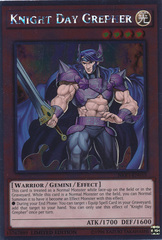 Knight Day Grepher - NKRT-EN015 - Platinum Rare - Limited Edition