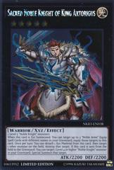 Sacred Noble Knight of King Artorigus - NKRT-EN038 - Platinum Rare - Limited Edition
