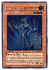 Neo-Spacian Aqua Dolphin - POTD-EN003 - Ultimate Rare - 1st Edition