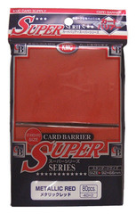 KMC Metallic Red Sleeves (80 ct)