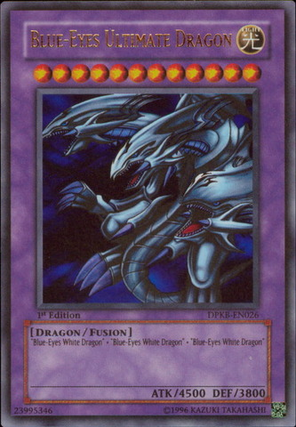 Blue-Eyes Ultimate Dragon - DPKB-EN026 - Ultra Rare - 1st Edition