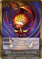 Milest, the Ghostly Flame Stone [TAT-099 SR] English Foil