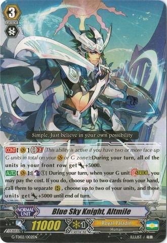 Blue Sky Knight, Altmile - G-TD02/002EN (C)