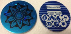 Blue Starmie Circle Holo Collectable Coin