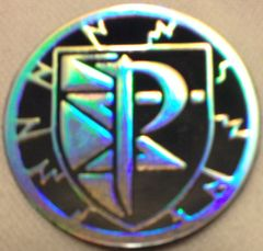 Dark Blue and Silver Plasma Storm Collectable Coin