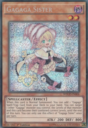 Gagaga Sister - WSUP-EN006 - Prismatic Secret Rare - 1st Edition