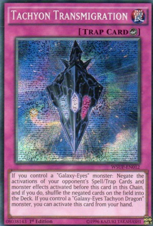 Tachyon Transmigration - WSUP-EN012 - Prismatic Secret Rare - 1st Edition