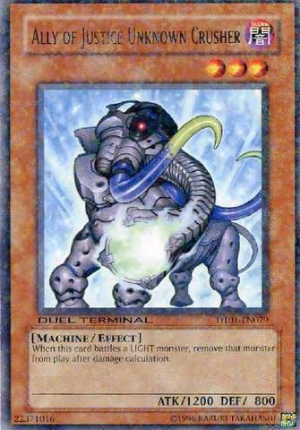 Ally of Justice Unkown Crusher - DT01-EN079 - Rare Parallel Rare - Duel Terminal