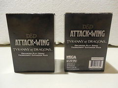 D&D Attack Wing Tyranny of Dragons Organized Play Tournament Pack
