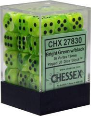 36 Bright Green w/black Vortex Dice Block - CHX27830