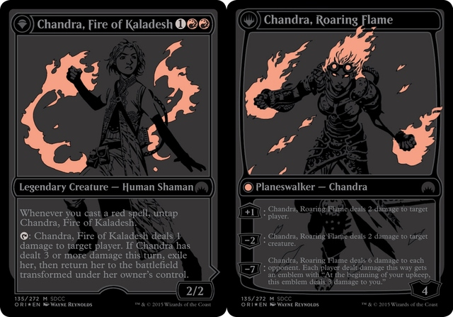 Chandra, Fire of Kaladesh // Chandra, Roaring Flame (SDCC 2015 Promo)