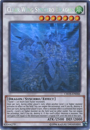 Clear Wing Synchro Dragon - CROS-EN046 - Ghost Rare - Unlimited Edition