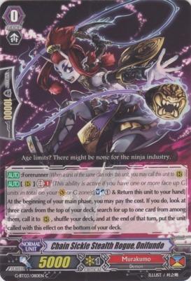 Chain Sickle Stealth Rogue, Onifundo - G-BT03/080EN - C