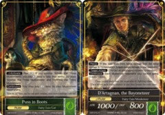 Puss in Boots // D'Artagnan, the Bayoneteer - CMF-074-J - R - 2nd Printing