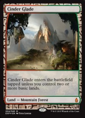 Cinder Glade (Masterpiece Foil) on Channel Fireball