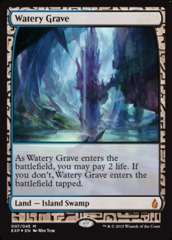 Watery Grave - Foil (Zendikar Expedition: Battle for Zendikar Lands)