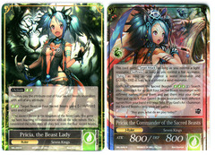 Pricia, the Beast Lady // Pricia, the Commander of the Sacred Beasts - SKL-059 // SKL-059J - R - 1st Edition