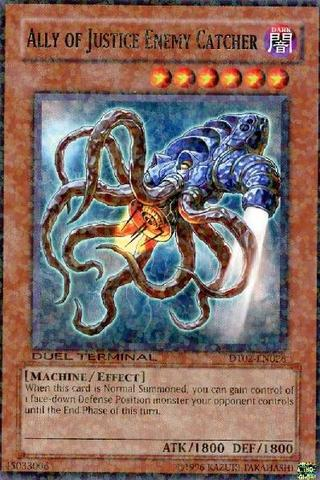 Ally of Justice Enemy Catcher - DT02-EN026 - Rare Parallel Rare - Duel Terminal