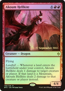 Akoum Hellkite (Battle for Zendikar Prerelease Foil)