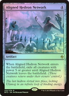 Aligned Hedron Network (Battle for Zendikar Prerelease Foil)