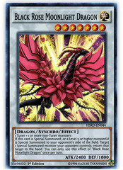 Black Rose Moonlight Dragon - HSRD-EN044 - Super Rare - 1st Edition