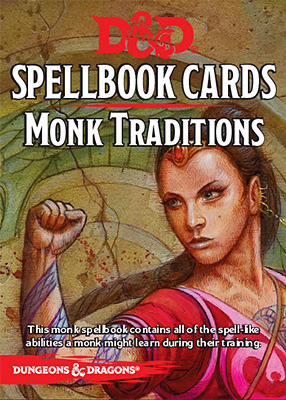 Dungeons and Dragons 5th Edition RPG: Spellbook Cards - Monk Traditions