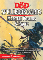 Dungeons and Dragons 5th Edition RPG: Spellbook Cards - Martial Powers & Races
