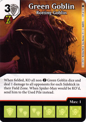 Green Goblin - Rotting Goblin (Die & Card Combo)