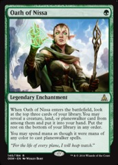 Oath of Nissa on Channel Fireball